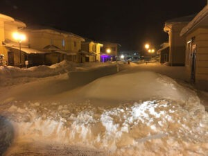 Фото - Снег на территории коттеджного посёлка