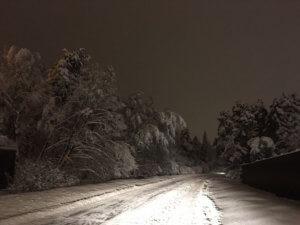 Заснеженная дорога Подмосковья