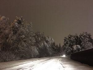 Дорога Подмосковья после снегопада