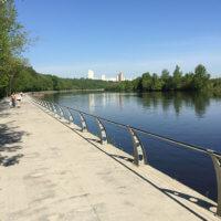 Фото Филёвской набережной и Москвы реки